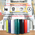 Free samples  Compostable Plastic Lldpe Blac Transparent Color Hand Pallet Hood Jumbo Wrap Pe Stretch Film Roll