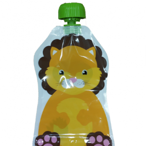 Food Grade Plastic Liquid Packaging Reusable Baby Food Spout Pouch