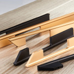 Customized modern aluminum long handle furniture handle wardrobe door handle black 1200 mm long