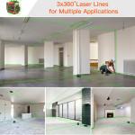 16 lines 4D green beam floor self leveling multi machine level tool laser level