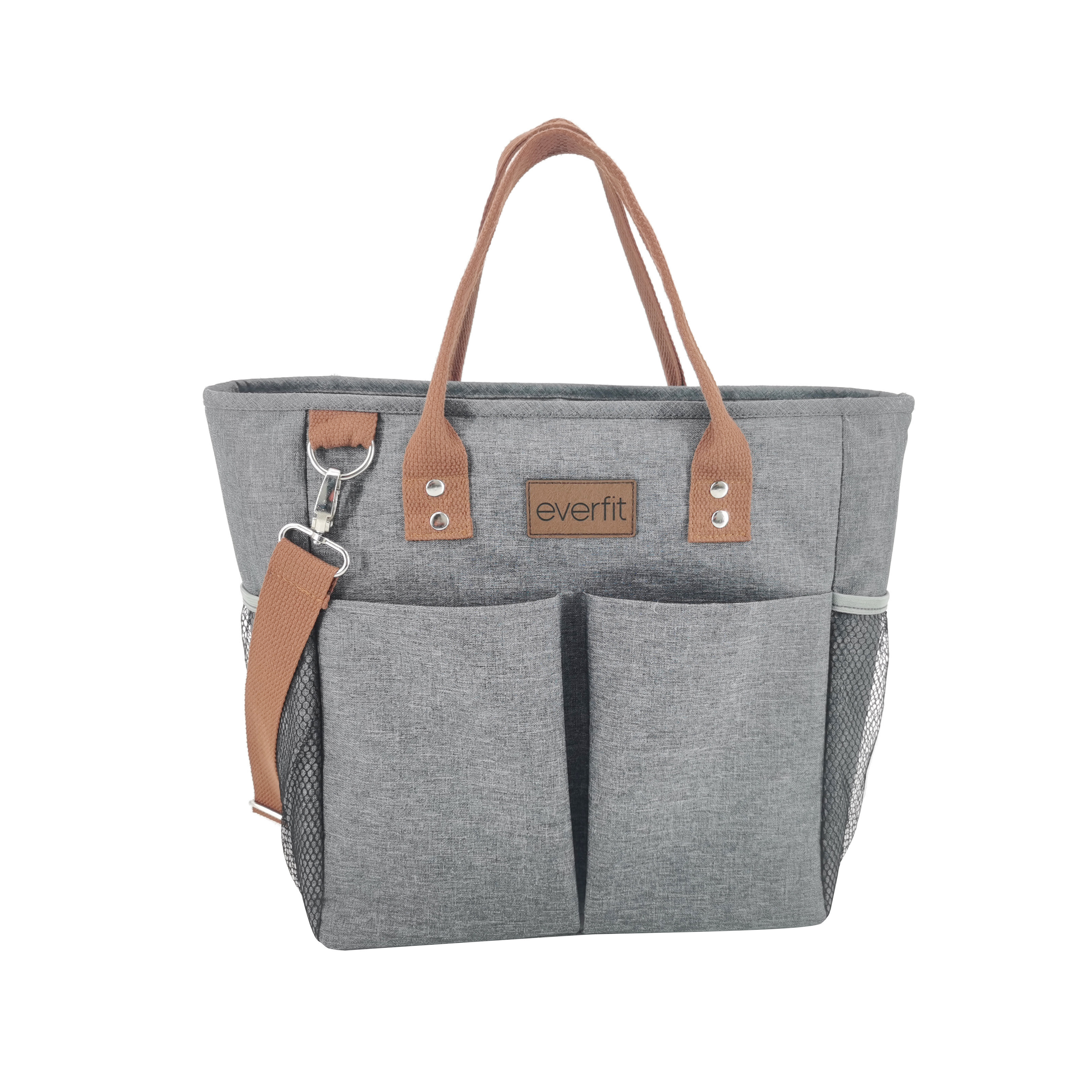 Large Insulated Lunch Tote Bag with Pockets and Shoulder Strap, 20-Can Capacity Ideal for 40z Bottles, For Women Men Work Colleg