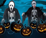 RTNZ-040yiwu caddy Hungry Ghost Skeleton Designer Carnival Halloween Costume