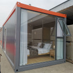 Steel Prefab Prefabricated House Building Contain Hotel Flat Pack House