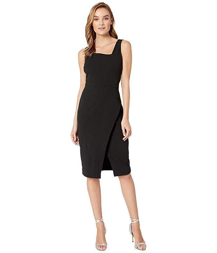 Scuba Crepe Midi With Asymmetrical Hem