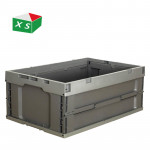 Factory direct sales can be customized food live poultry transport new material with cover foldable solid plastic turnover crate
