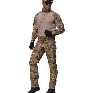 Multicam Tactical military Camouflage Combat Uniforms frog suit Long Sleeve Shirt.