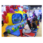 Multiplayer throw fishing rod fishing game machine  used indoor amusement machine with coin operated