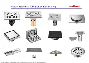 Stainless Steel Floor Drain - Universal