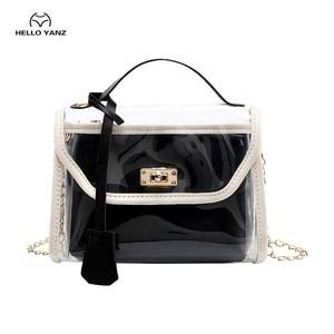 2020 New Summer PVC Transparent Shoulder Crossbody Jelly Bags Clear Bag Satchel Bag Ladies Girl Casual Chain PU Handbags