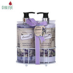 Oem hotel 2pcs 500ml natural lavender fragrance cleanse hand wash liquid soap and lotion