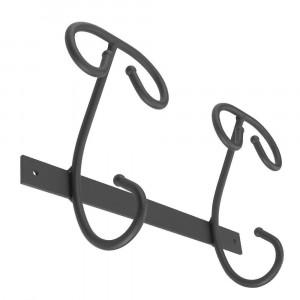 Solid hooks 2 hooks Iron hook with antique black powder finishing
