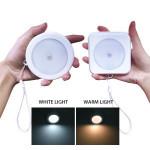 Body Motion Sensor 6LED Wall Lamp Night Light Induction Lamp Corridor Cabinet led Search Lamp With Light Sensor