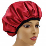 Custom eco - friendly leopard print reusable shower hat waterproof