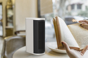Winter New Vertical & Horizontal 500W 220V Portable Electric Mini Easy Home Fan Heater White Heating Wire Heat (DH-QN06)