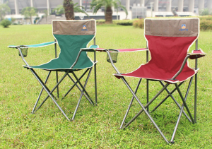 Portable Folding Chair for Outdoor, Beach and Camping (Red and Green, 1 Pack)