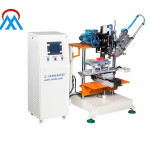 Hot sale customized high production 2 axis 1 tufting flat washing brush making machine for car washing brush or sweeping broom