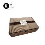 Newest pastry mooncake packaging square corrugated paper box