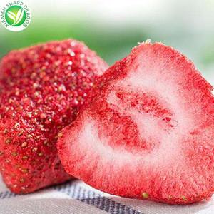 FD Wholesale bulk dryed fruit granules freeze dried strawberry slices