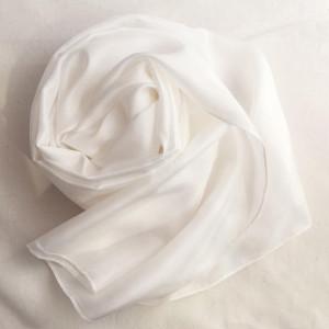 blank white silk habotai scarf for diy dying