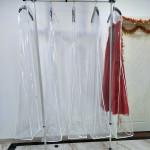 Extra Large 160cm 180cm 200cm 210cm Transparent Clothes Storage bag Solid Bag Cover For Wedding Dress Dust Cover