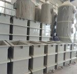 Polypropylene PP tank with steel reinforcement for metal finishing treatment industry