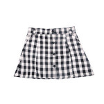 Popular baby girls clothes beautiful black and white gingham girls boutique skirt