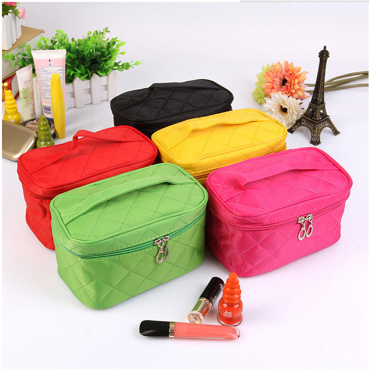 2020 Cosmetic Box Female Quilted Cosmetic Bag Women Large Capacity Storage Handbag Travel Makeup Case