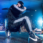 2018 latest design winter mens trend suits casual running wear white and black men sports tracksuits