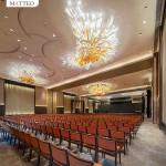 golden indoor crystal lighting chandelier made in china