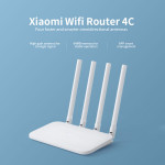 Original Xiaomi Mi Router 4C 300Mbps 2.4G 802.11 b/g/n 4 Antennas Band Wireless Routers WiFi Repeater Mihome APP Control