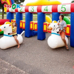 Running Horse Game For Carnival Inflatable Derby Horse Racing Inflatable Horse Jumping Games