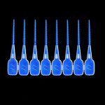 Toothpick Ended Rubber Tipped Soft Silicone Interdental Brush