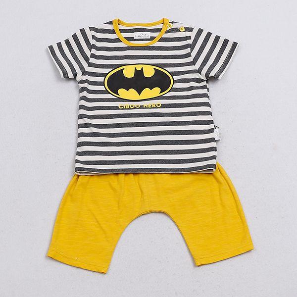 BATMAN Short Sleeve Baby Cloth Set