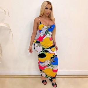 2020 Sundresses Women Summer Dresses Bodycon Ladies Dress Tie Dye Women Lady Elegant Girls Maxi Dresses Sundresses 2 buyers