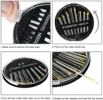 Gold Eye Hand Sewing Compact Needles In Pack Of 30 Pcs for Hand Embroidery Threading