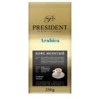 President Arabica Roasted Beans - roasted coffee beans, roasted coffee beans in packaging, 1 kg or 250 g
