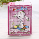 Europe top selling kids kawaii stationery custom printed cute fancy plastic mechanical pencil sharpener mixed colors