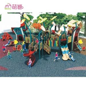 Moetryplay Outdoor Playground Fancy House Plastic Outdoor Playhouse for Kindergarten Play Area
