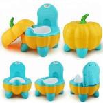 Plastic pumpkin design baby seat children toilet Seat baby potty chair