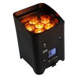 stage light 6*18W RGBAW UV 6in1 wireless dmx battery powered led par uplights