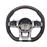 Steering Wheel Usa Carbon Leather Led Oem Customized Stripe Color Material Fiber Origin Type Gua Fro Benz C/E