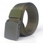Quick Drying Smooth Buckle Imitation Nylon Custom Logo Thickened  Men's Nylon Belt