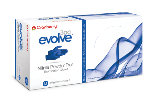 Cranberry Evolve 300, Nitrile Powder Free Gloves, OTG US, Production Malaysia