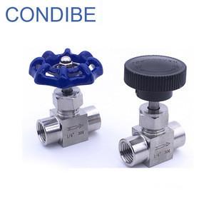 Condibe tube union female thread stainless steel needle valve