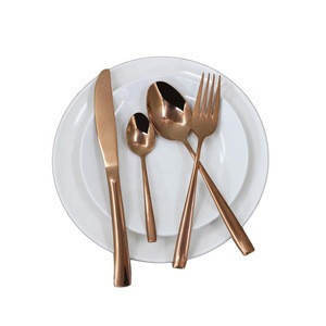 Jieyang shengde factory price online shopping rose gold fork and copper spoon gift stainless steel cutlery china flatware set