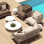 Rattan Garden Patio Sofas Sectional Couch Sale Furniture Outdoor Sofa Set