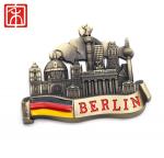 Hot sale France Paris city design custom metal custom made  souvenir strong  fridge magnet sticker