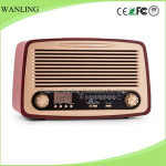 OEM antique FM radio with USB SD recording portable radio