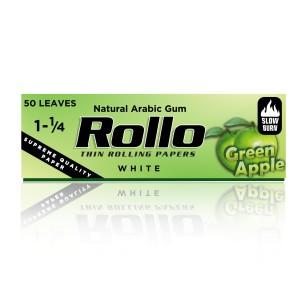 Rollo Green Apple Cigarette Rolling Paper, Spanish 1 1/4 44 x 78