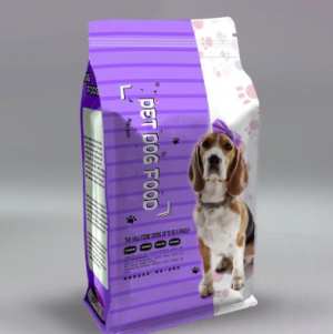 Top fashion customized aluminum foil bag flat bottom pouch for pet food